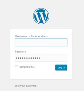 cara log in wordpress