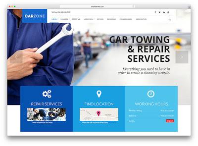 Desain Website Bengkel Mobil
